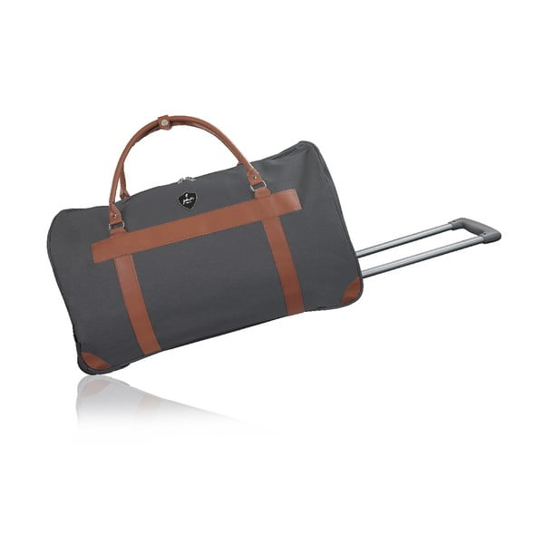 Sivá cestovná taška na kolieskách GENTLEMAN FARMER Oslo, 93 l