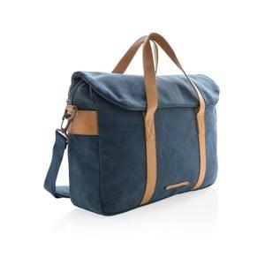 Modrá plátěná taška na notebook 15,6'' XD DesignCollection, 16l