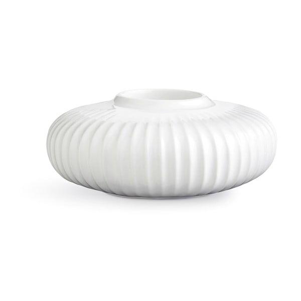 Biely porcelánový svietnik na čajové sviečky Kähler Design Hammershoi, ⌀ 13 cm