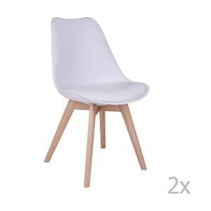 Sada 2 bílých židlí House Nordic Molde