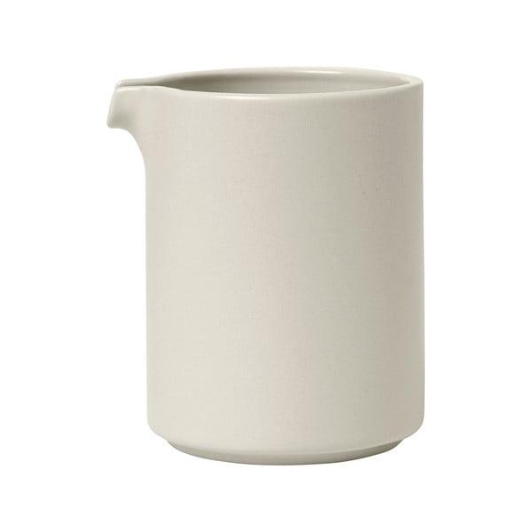Bílá keramická mléčenka Blomus Pilar,280 ml