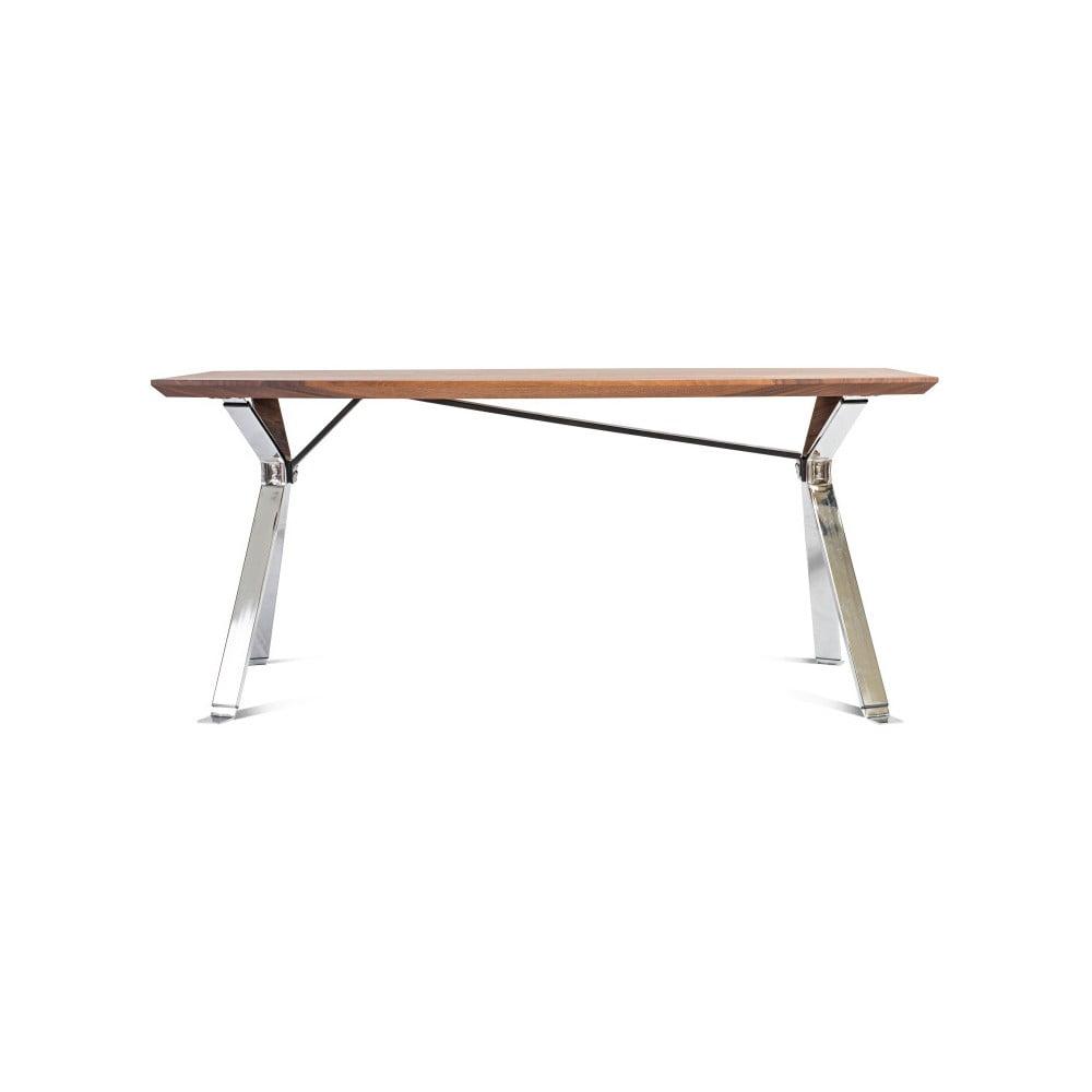 Jídelní stůl s deskou z ořechového dřeva Charlie Pommier Serious, 200 x 100 cm