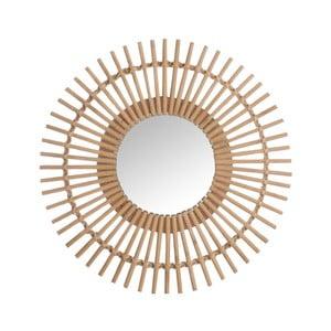 Hnědé nástěnné zrcadlo J-Line Bars