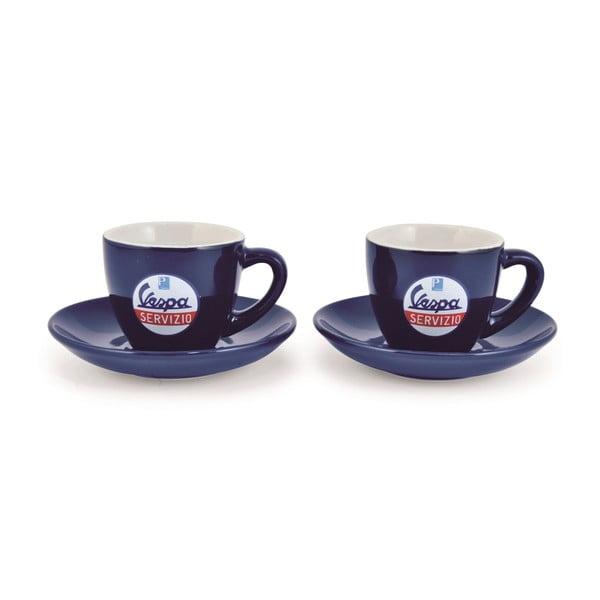 Sada 2 šálků na kávu Vespa