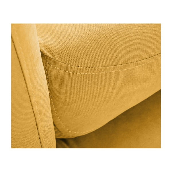 Canapea pentru 3 persoane Scandi by Stella Cadente Maison, galben