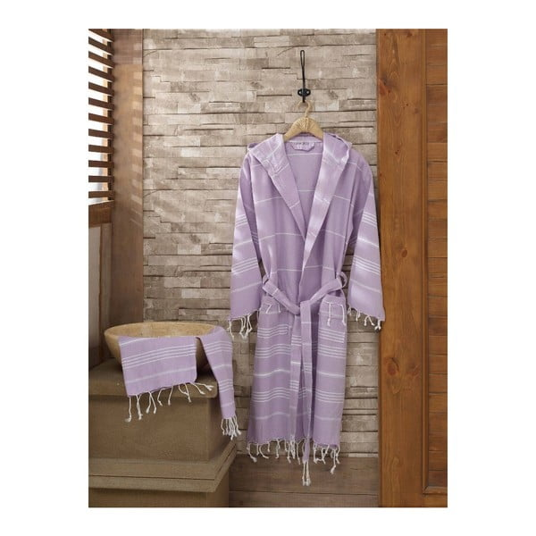 Set županu a ručníku Sultan Lilac, vel. L/XL