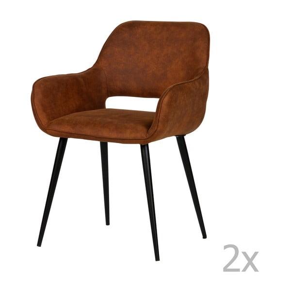Sada 2 hnědých židlí De Eekhoorn Jelle
