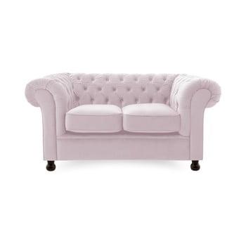 Canapea 2 locuri Vivonita Chesterfield mov deschis