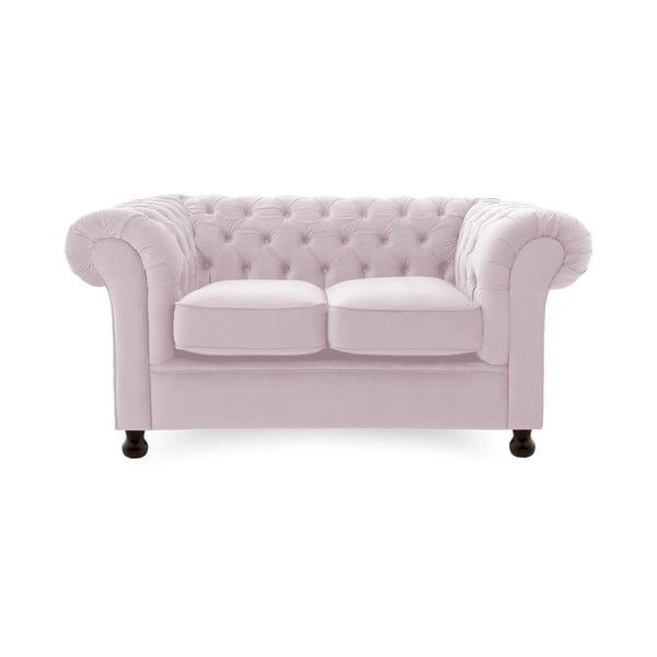 Canapea 2 locuri Vivonita Chesterfield, mov deschis