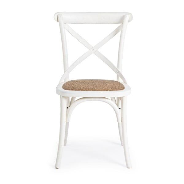 Bílá jídelní židle Bizzotto Cross