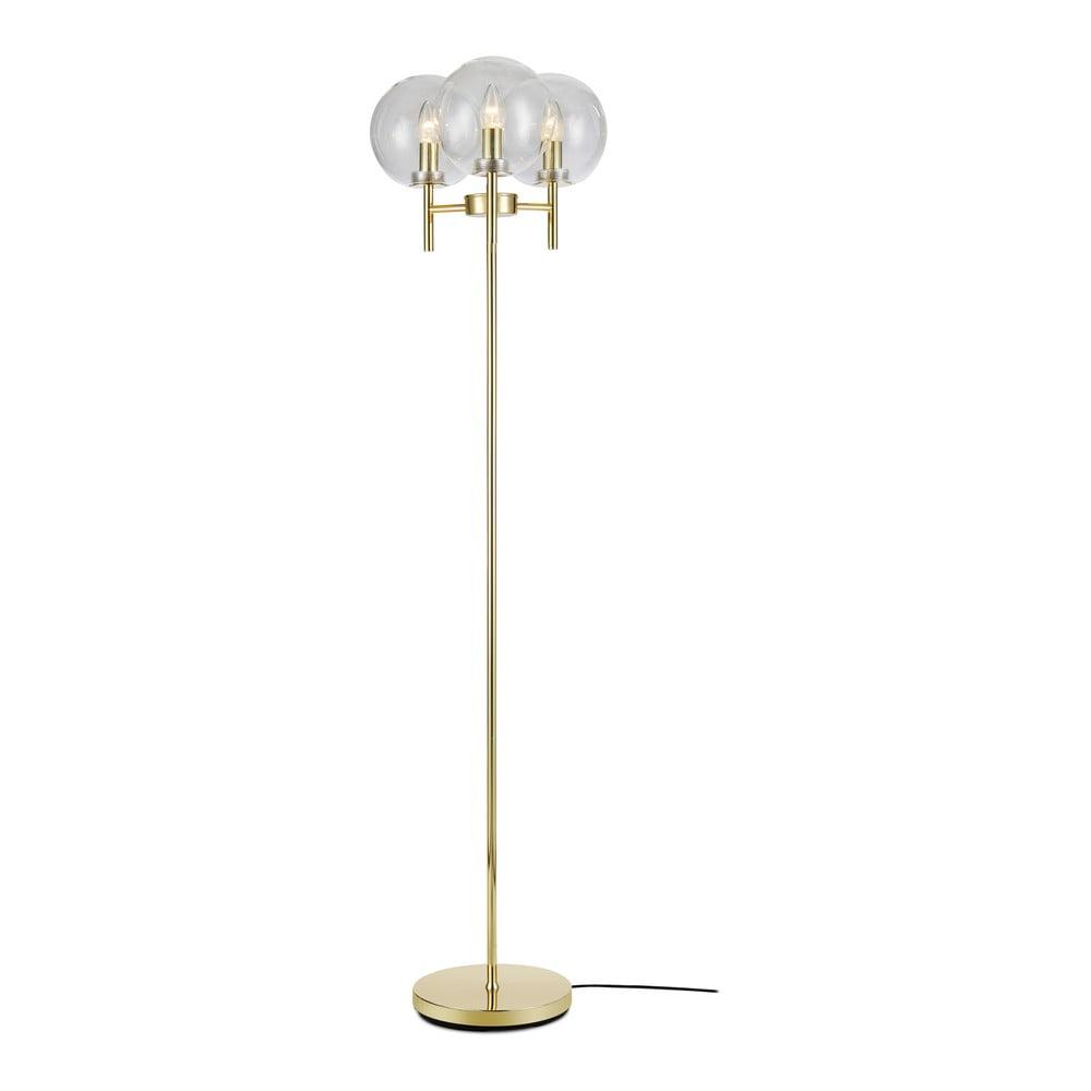 Volně stojící lampa ve zlaté barvě Markslöjd Crown Floor 3L