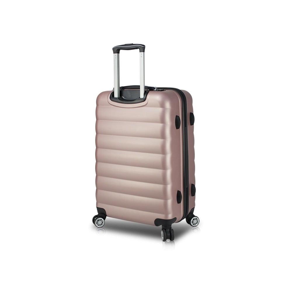 Růžový cestovní kufr na kolečkách s USB portem My Valice COLORS RESSNO Medium Suitcase