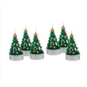 Sada 6 čajových svíček Butlers Christmas Tree