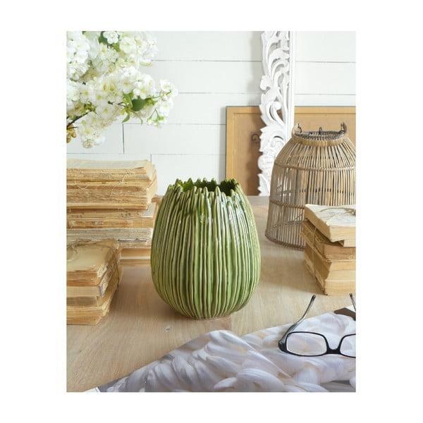 Zelená keramická váza Orchidea Milano Arizona Big Bowl, ⌀ 18 cm