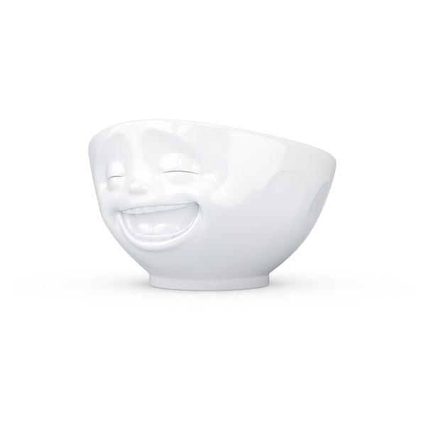 Bílá porcelánová smějící se miska 58products