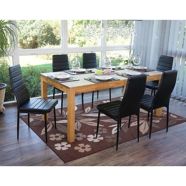 Sada 4 černých jídelních židlí Mendler Lamego