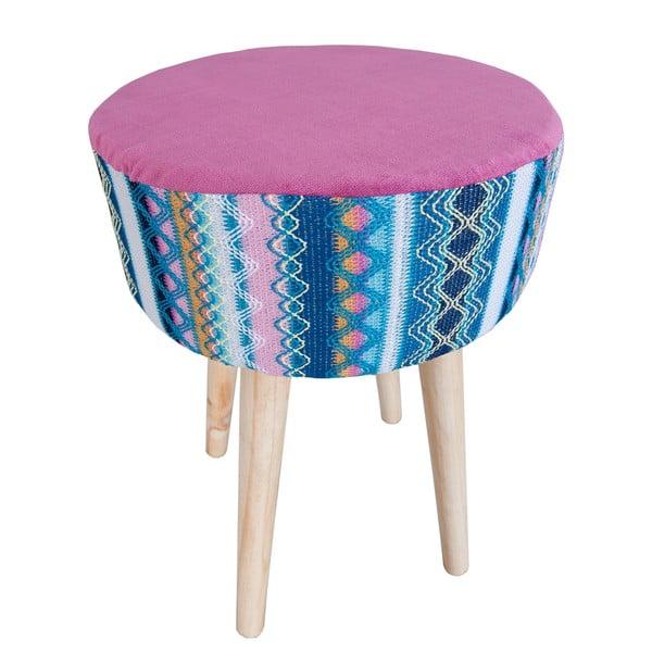 Růžovo-modrá stolička Clayre & Eef Vagon