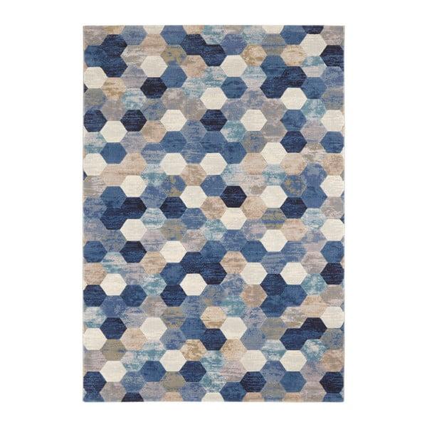 Modro-krémový koberec Elle Decor Arty Manosque, 160 x 230 cm