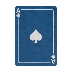 Koberec Piky 160x120 cm, modrý