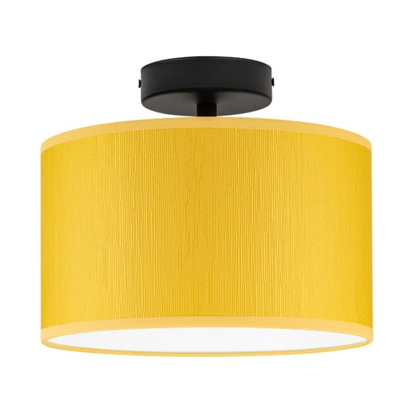 Żółta lampa sufitowa Bulb Attack Doce, ⌀ 25 cm