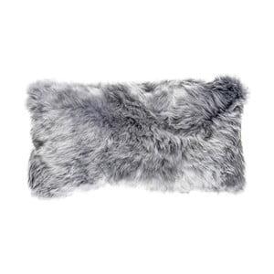 Šedý vlněný polštář z ovčí kožešiny Auskin Lachlan,28x56cm
