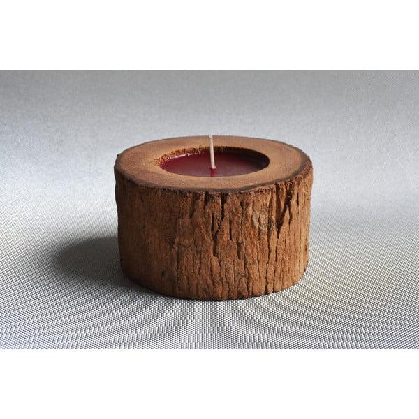 Palmová svíčka Legno s vůní exotického ovoce, 40 hodin hoření