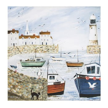 Reproducere tablou Graham & Brown Harbourside Type, 50 x 50 cm de la Graham & Brown