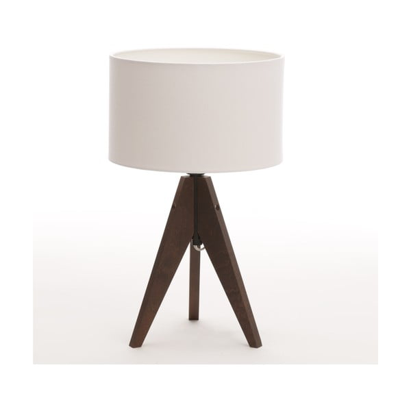 Stolní lampa Arist Cylinder White/Dark Brown