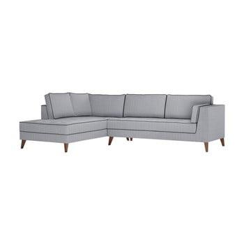 Canapea Stella Cadente Maison Atalaia pe partea stângă gri - negru