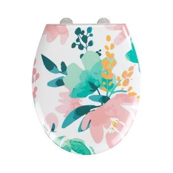 Capac WC cu închidere lentă Wenko Easy Flowery, 44,5 x 37 cm imagine