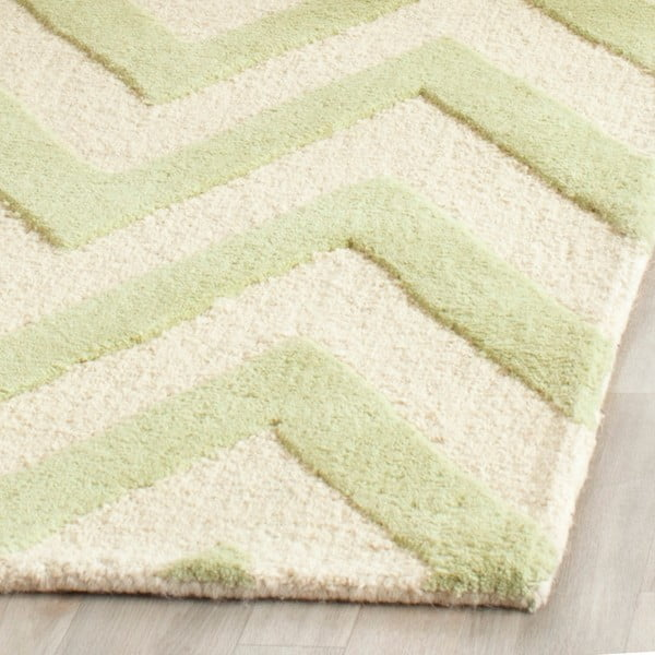 Vlněný koberec Stella Light Green, 152x243 cm