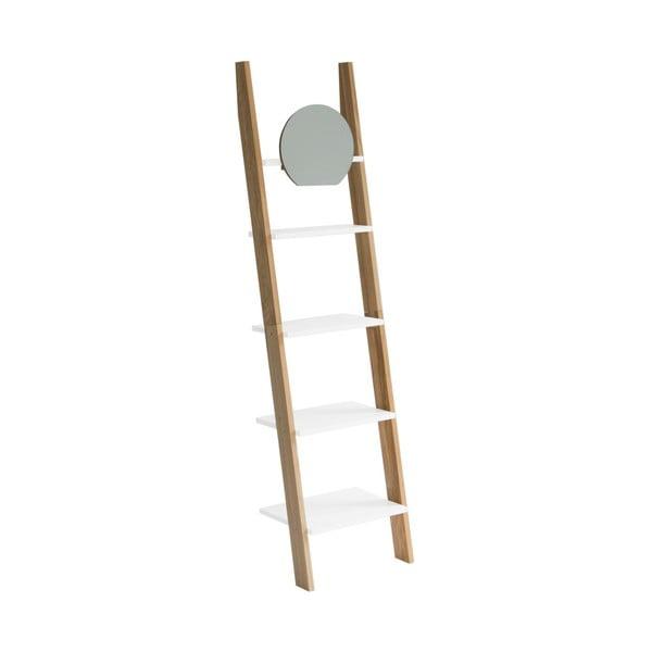 Ashme Ladder fehér létrapolc, tükörrel - Ragaba