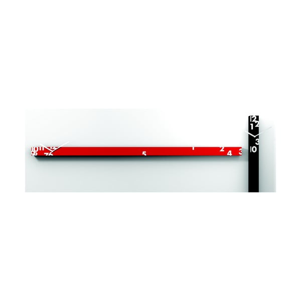 Horizontální hodiny Iltempostringe, červené, 150 cm