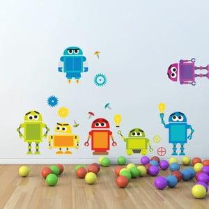 Samolepka na zeď Roboti, 70x50 cm