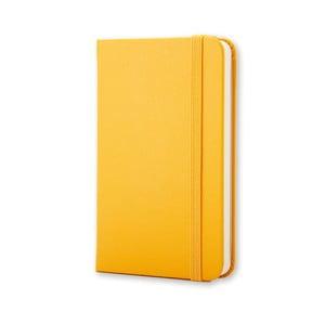 Žlutý zápisník Moleskine Hard, extra malý, nelinkovaný