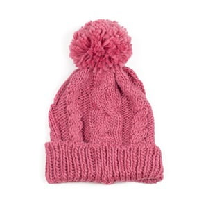 Čepice Pom Pink