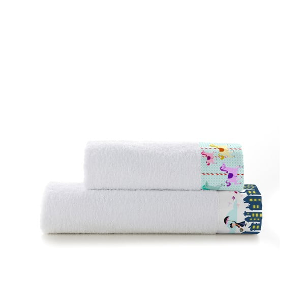 Sada 2 ručníků Mr. Fox Spit Spot, 50x100 cm a 70x140 cm