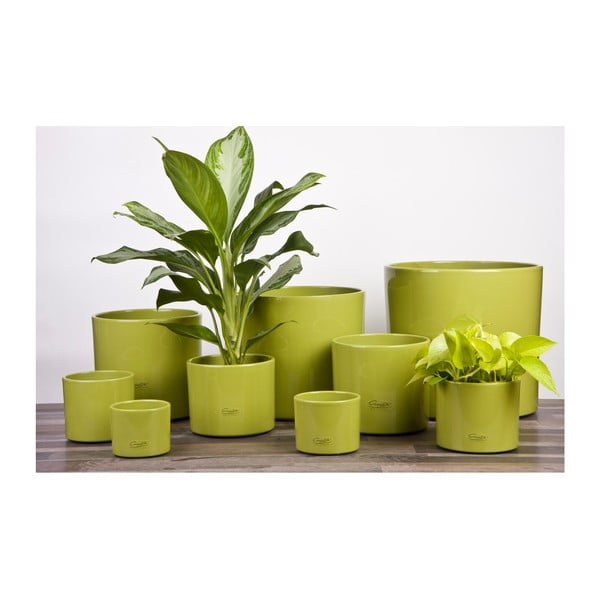 Květináč Ovale zelený, 19 cm