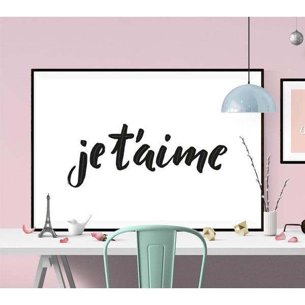 Plakát Je t´aime BW, A2