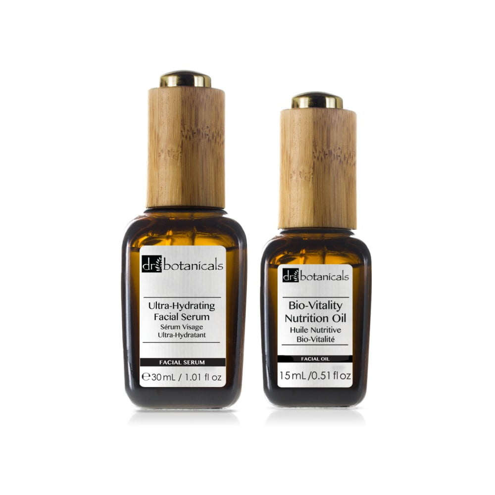 Set péče o pleť Dr. Botanicals Bio-Vitality Nutrition Oil a Ultra-Hydrating Serum