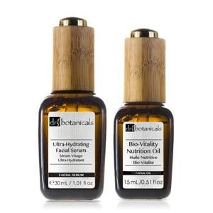 Set vyživujícího pleťového oleje a séra Dr.Botanicals Bio-Vitality Nutrition Oil And Ultra-Hydrating Serum