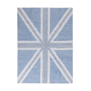 Modrý bavlněný ručně vyráběný koberec Lorena Canals UK, 120x160cm