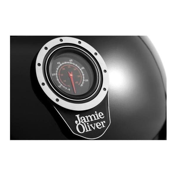Černý gril s teploměrem a regulátorem přívodu vzduchu Jamie Oliver Classic One