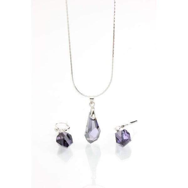Set náhrdelníku a náušnic Yasmine Simplicity Dark