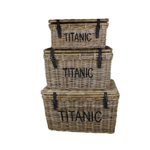 Sada 3 úložných boxů  z koboo ratanu HSM Collection  Titanic