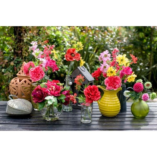 Skleněná váza s umělou květinou Lavander, 36 cm