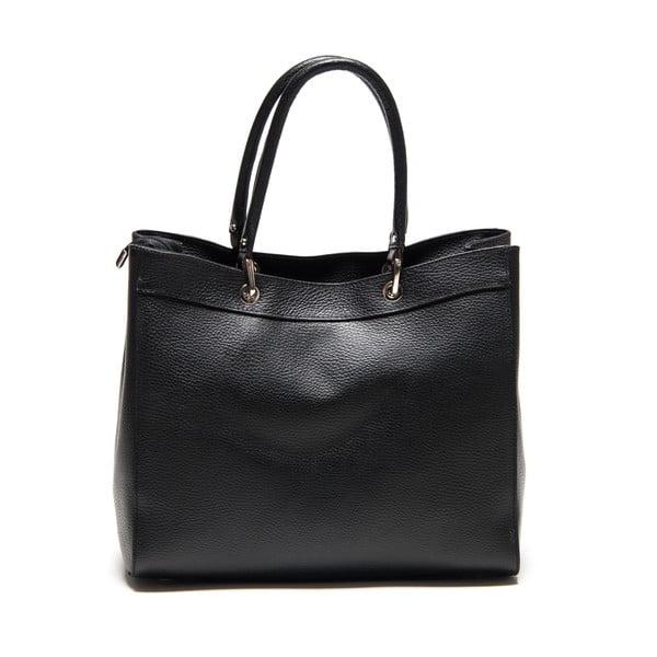 Kožená kabelka Freya, černá
