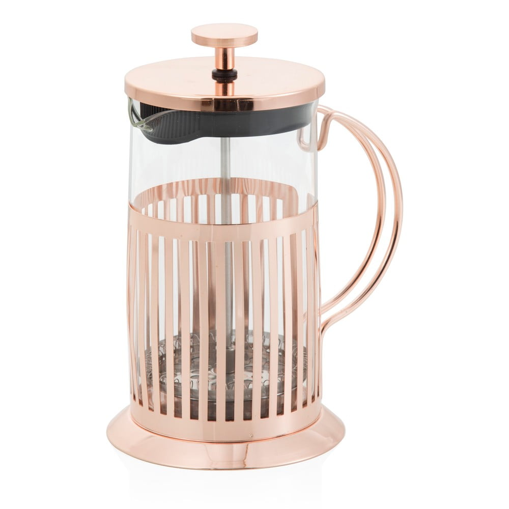 French press na čaj a kávu Brandani Rose Gold 800 ml
