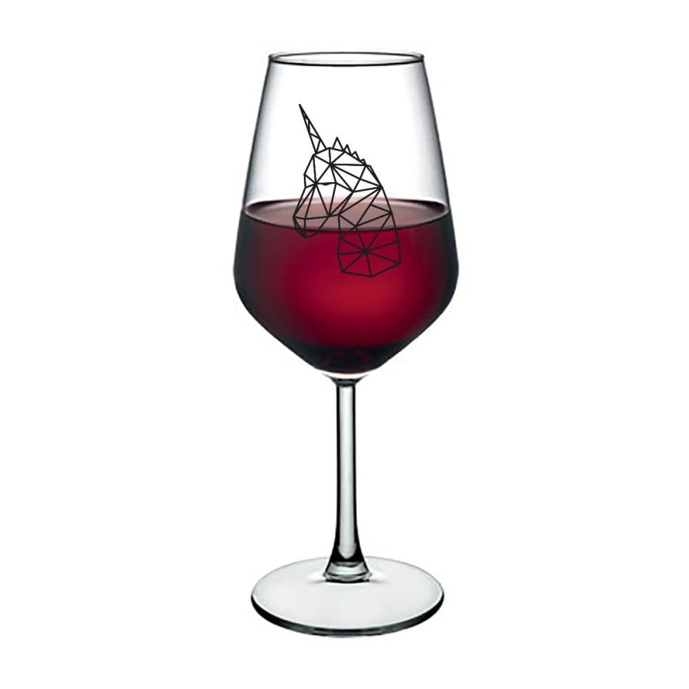 Sklenice na víno Vivas Polygonal Unicorn, 345 ml
