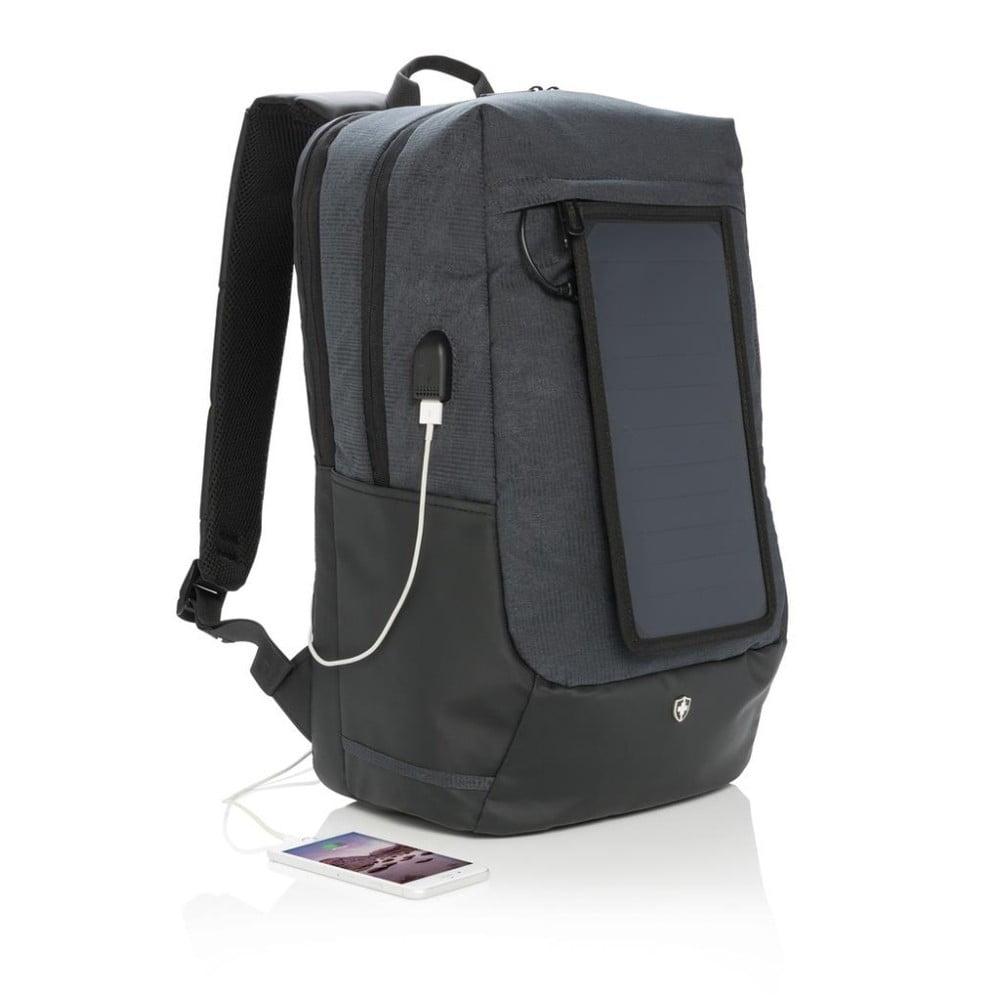Batoh na notebook se solárním panelem a 3 USB porty XD Design  9c3374b7d2
